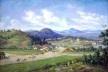 """""""Cubatão em 1826"""", aterrado já pronto, 1922. Óleo sobre tela, 120cm x 81cm Pintura de Benedito Calixto<br />Imagem divulgação  [Acervo do Museu Paulista]"""