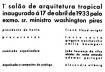 Figura 21 - Convite do 1° Salão de Arquitetura Tropical (verso), Rio de Janeiro, 1933<br />Design gráfico Alexander Altber