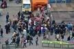 Centro Histórico de Bolonha, turistas e moradores em festividades de matrimonio na Piazza Maggiore<br />Foto Fabio Jose Martins de Lima