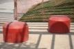 Vista sob a Pérgola-Mesa - Bancos<br />Imagem dos autores do projeto