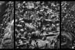 """""""O inferno de Bosch segundo Sebastião Salgado"""", tríptico 2, fragmentos da exposição fotográfica """"Gold – Mina de Ouro Serra Pelada""""<br />Fotomontagem de Abilio Guerra"""