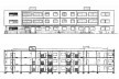 Fachada do conjunto de dois edifícios / Corte Longitudinal dos edifícios. Projeto aprovado, 1955 [DPH - Departamento de Patrimônio Histórico]