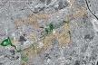 Operação Urbana Vila Sônia. Plano-Referência de Intervenção e Ordenação Urbanística.<br />Vista de conjunto da área de atuação