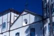 Aspecto do frontão com as torres da Igreja Matriz de Nossa Senhora do Rosário<br />Foto Fabio Lima
