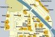 """Planta dos pavilhões nacionais no parque de exposições """"Giardini di Castello"""", principal lugar onde se celebra a Bienal de Veneza [Website da Bienal]"""