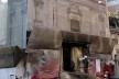Recuperação da fachada da Igreja de Santa Maria della Vittoria, detalhe da entrada, Centro Histórico de Roma<br />Foto Petterson Dantas