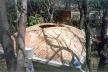 Vista de una bóveda cuya base es de forma cuadrada