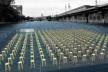 Teatro invisível, montagem simulando possibilidade de ocupação do teatro. Carlos M. Teixeira