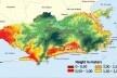 Áreas propensas a inundação<br />Fonte: Gusmão, P.P. et al., Rio Próximos 100 anos, 2008  [divulgação]