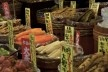 Nishiki Market, verduras em conserva, Kyoto<br />Foto Roberto Abramovich