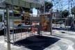 Pontos de ônibus na praça Campo Grande, quase completamente desmontados uma semana antes do carnaval<br />Foto Volha Yermalayeva Franco