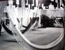 Implantação geral da Trienal de Milão de 1964 publicada pela revista Casabella n. 290. Dentre os participantes, Finlândia, Iugoslávia, México, Alemanha, França, Bélgica e Estados Unidos [Casabella, p. 17]