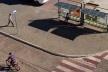 Renovação da praça central, com sinalização, pavimentação pré fabricada e abrigo de ônibus<br />Foto/Photo Fabio Lima