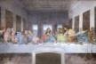 Última Ceia, de Leonardo da Vinci, parede norte do refeitório da Igreja S. Maria delle Grazie, Milão<br />Foto Victor Hugo Mori