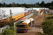 """Sarah Brasília Lago Norte, acesso principal, Brasília DF<br />Foto Nelson Kon  [LIMA, João Filgueiras (Lelé). """"Arquitetura - uma experiência na área da saúde""""]"""