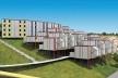 """Projeto alternativo para o programa """"Minha Casa, Minha Vida"""", simulação em computação gráfica. Arquiteto João Filgueiras Lima, Lelé<br />Imagem divulgação"""