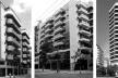 Da esquerda para a direita: gabarito pelo decreto nº 322 de 1976 com embasamento de garagem; edificações feitas com base nos PEUs de Botafogo e Leblon (duas últimas); edifício com embasamento e vazio entre edificações após 1990 (duas últimas)<br />Fotos David Cardeman, 2004/2006