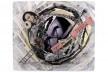 Bel Falleiros, out inside, 2010, 37,5 x 32,2 cm, papéis coletados pela cidade, xerox, jornal, carimbos, caneta, papel de seda, lápis, gesso<br />Divulgação