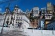 Centro Histórico de Salvador, casarões e prédios na encosta e a igreja de Nossa Senhora da Conceição da Praia<br />foto Fabio Jose Martins de Lima