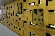 Sede I, painel de Bruno Giorgi existente no edifício<br />Foto Jayme Wesley de Lima