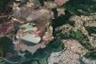 Barragem Casa de Pedra e malha urbana, Congonhas MG<br />Foto divulgação  [Google Maps]