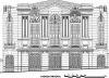 Desenho da fachada, levantamento métrico-arquitetônico