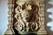 Mascarão esculpido em pedra, detalhe de lavabo de sacristia, propriedade da Arquidiocese de Mariana MG, 2015<br />Foto Elio Moroni Filho
