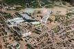 Vista aérea da maquete, em destaque o Centro de Hipismo<br />Imagem dos autores do projeto