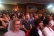 Plateia na homenagem a Paulo Mendes da Rocha, auditório Ruy Barbosa, Universidade Presbiteriana Mackenzie <br />Foto Abilio Guerra