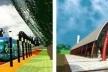 À esquerda, estação metrô; à direita Feira do Produtor e Estação Ferroviária<br />Imagem dos autores do projeto