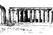 Croqui de viagem retratando Luxor [DEVILLERS, Charles; DOSTGLU, Neslihan; FRAMPTON, Kenneth. Louis I. Kahn.]