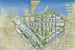 São Francisco Mission Bay: implantação sobre imenso vazio urbano: antiga área industrial-portuária de 303 acres [University of California]
