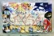 Painel em azulejos pintados, Praça Roosevelt, São Paulo<br />Foto Abilio Guerra
