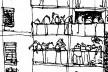 FAU UNC Ocupada (detalhe), desenho de Luis Coccato<br />Imagem divulgação