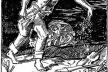 """""""Operário semeando as artes no Brasil"""", Carlos Oswaldo. Água forte.  [Barros A. P. O Liceu de Artes e Ofícios e seu fundador, Rio de Janeiro: L.A.O., 1956, p. V]"""