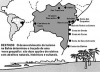 """Mapa de roteiros turísticos do Estado da Bahia. Elaborado pelo órgão oficial de turismo, a Bahiatursa, propõe sua """"nova geografia"""" mesclando denominações tradicionais (""""Baía de Todos os Santos"""") e inventando outras (""""Caminhos do Oeste"""").  [Bahiatursa / 2002. Adaptação: Maria da Glória Lanci da Silva]"""
