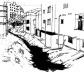 Construção nas margens dos cursos d'água<br />Ilustração Ítalo Stephan