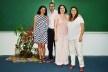 Celma, Cybelle, Klaudia e Fernando após a Palestra no Auditório do PPGITEC<br />Foto Douglas Naegeli