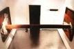 """""""Sforza"""", aço oxidado, óleo e areia, dimensões variáveis, 1994"""
