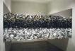 """""""Thisplacements"""", a partir da queima de 13.000 CDs, dimensões variáveis, 2002"""