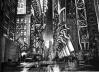 Esboço para a cidade de Gotham City do filme Batman, de Tim Burton, EUA, 1989