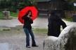 Turistas na praça no Trono d'Attila<br />Foto/photo Fabio Lima