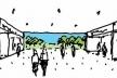 Croqui da Nova Conexão de Pedestres<br />Imagem dos autores do projeto