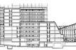 Corte Transversal, Hospital Europeu Georges-Pompidou, Paris (por A. Zublena, B. Cabannes, P. Dariel, 1983-1999) [FERMAND, C.. Les hôpitaux et les cliniques : architectures de la santé, Paris, Le Moniteur]