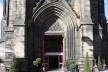 Igreja transformada em centro de informações do festival Fringe, em Edimburgo, Escócia<br />Foto Victor Sena