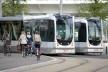 Ciclistas e tram nas imediações do festival<br />Foto Fabio Lima