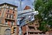 Piazza XX Settembre, sinalização e patrimônio edificado<br />Foto Fabio Jose Martins de Lima