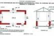 Planta e corte da construção de um cômodo experimental para os estudos de conforto térmico e luminoso - Cidade Universitária