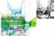 Requalificação de vías e calçadas próximas ao Eco-elevado<br />Imagem do autor do projeto