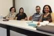 Celma Chaves, Klaudia Perdigão, Fernando Lara e Cybelle Miranda durante o Seminário de mestres e mestrandos<br />Foto Douglas Naegeli